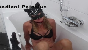 'Drooling, Spitting, Pissing And Squirting Degraded submissive Painslut'