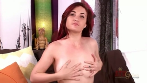 Female Kat Monroe playing with toys in HD