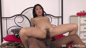 Hairy asian brunette Saya Song feels up to nailing in HD