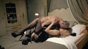 Blonde babe Kira Queen and George Uhl rough fucked anal HD