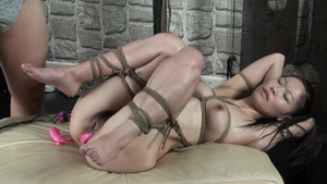 BDSM with hairy japanese brunette