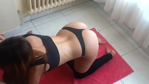Hard ramming in the company of big booty latina stepsister
