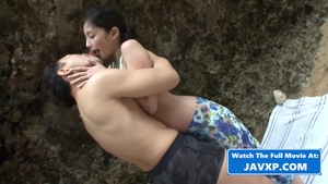 Outdoors small boobs japanese in HD