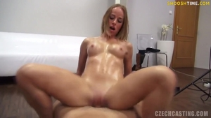 Czech cowgirl sex at casting