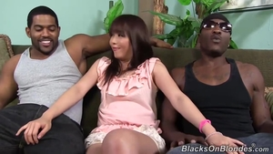 Hairy asian plowed by BBC
