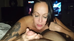 Thick amateur POV throat fuck