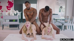 Foursome with young babe Cadence Lux