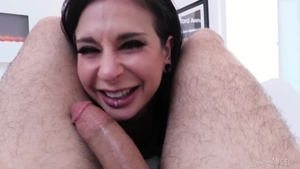 Super hot babe Joanna Angel gets a buzz out of good fuck