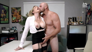 Seduced in office between pornstar Cory Chase