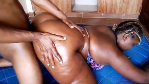 Deepthroat next to too cute ebony slut