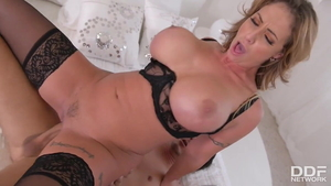 Large boobs Eva Notty MILF finds dick to fuck video
