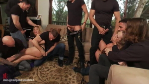 Gangbang with big butt Vicky Vixen and Andrea Acosta