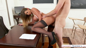 Brooklyn Chase hard goes wild on cock sex video