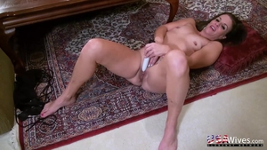 Solo housewife masturbating