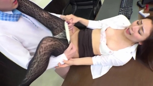 In office sexy asian