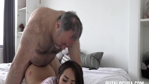 Hard ramming along with super sexy latina amateur