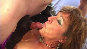 Creampied escorted by large boobs slut