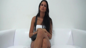 Petite czech babe pussy fuck at the castings