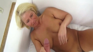 Super sexy blonde first time toys action