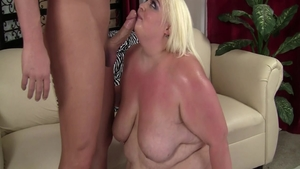 Shaved blonde hair lusts doggy