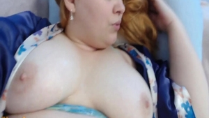 Large boobs BBW pussy eating