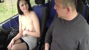 Big butt czech whore pussy eating on the street