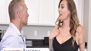 Natasha Starr and Marcus London throat fuck