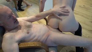 Young loves fucked by big cock grandpa
