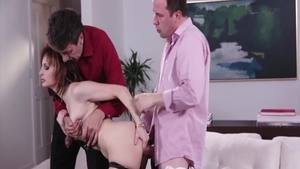 Ava Courcelles in raw homemade gangbang