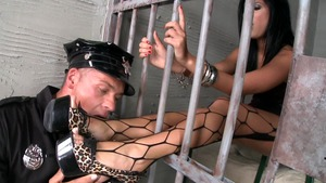 Fucking hard with Madison Parker in the jail