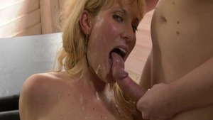 Female lusts receiving facial cum loads