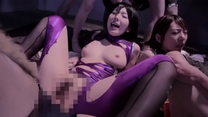 Yui Hatano plus chick Honami Takasaka group sex