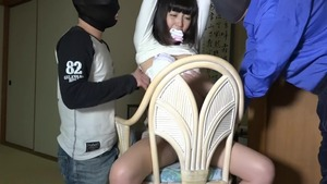Japanese brunette wishes for bondage