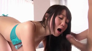 Asian receiving facial cum loads