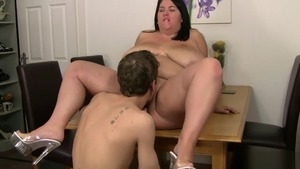 Hardcore rough fucking in the company of shaved brunette