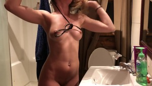 Rough nailing in the company of big boobs stepsister