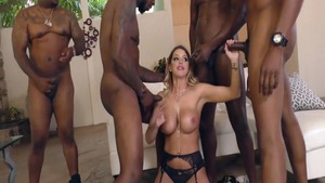 Brooklyn Chase in company with Jax Slayher group sex