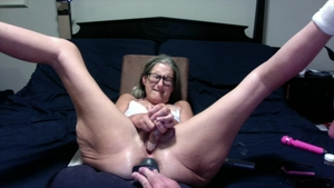 Shaved amateur toys action masturbation in HD